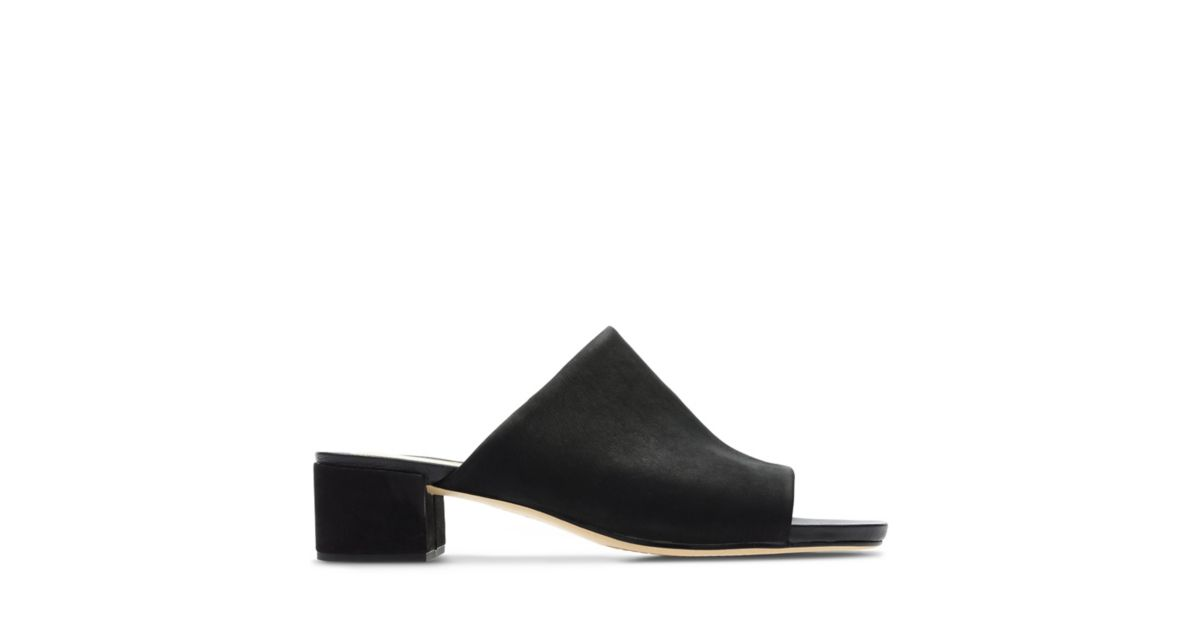 9be122f997f52 Orabella Daisy Black Nubuck - Women's Sandals - Clarks® Shoes Official Site  | Clarks
