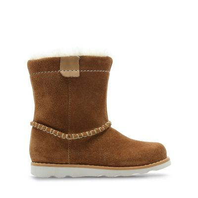 6e6ab60fa028 Crown Piper. Kids Boots. Tan Suede