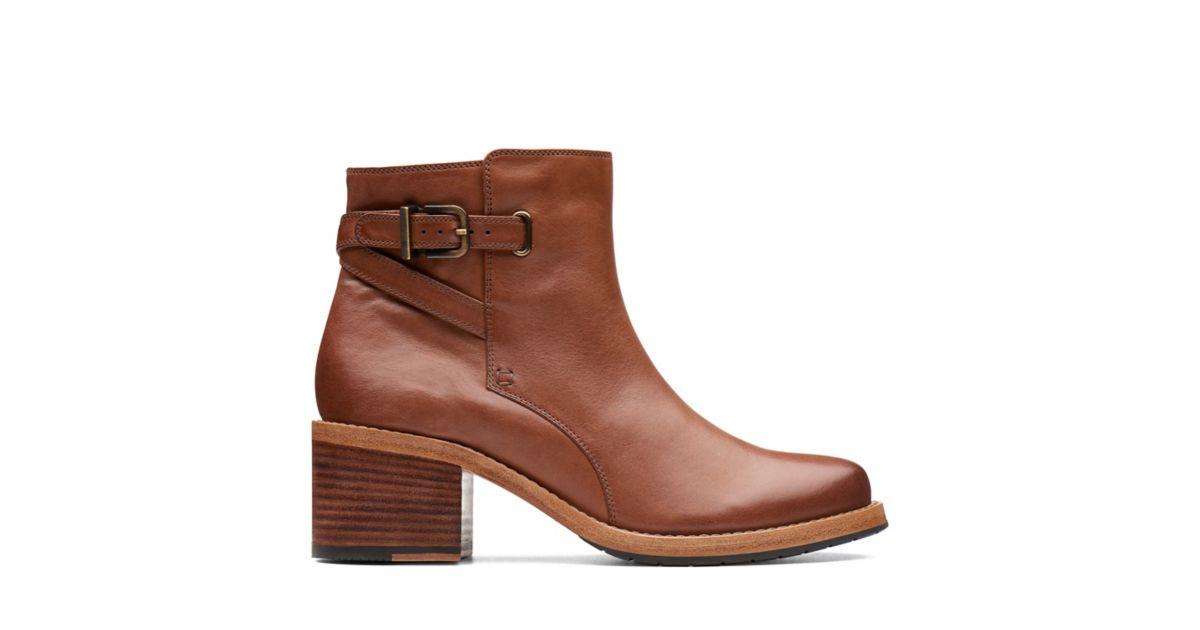97a100b336 Clarkdale Jax Dark Tan Leather | Clarks