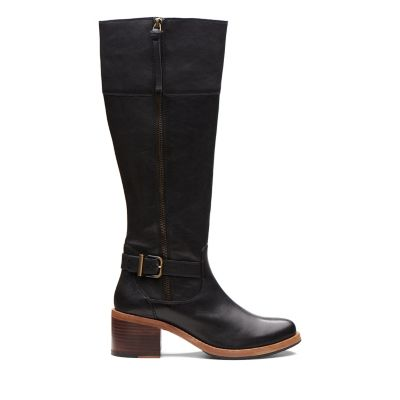 3a83b71eff38 Knee High Boots | Black, Brown & Tan | Leather & Suede | Clarks