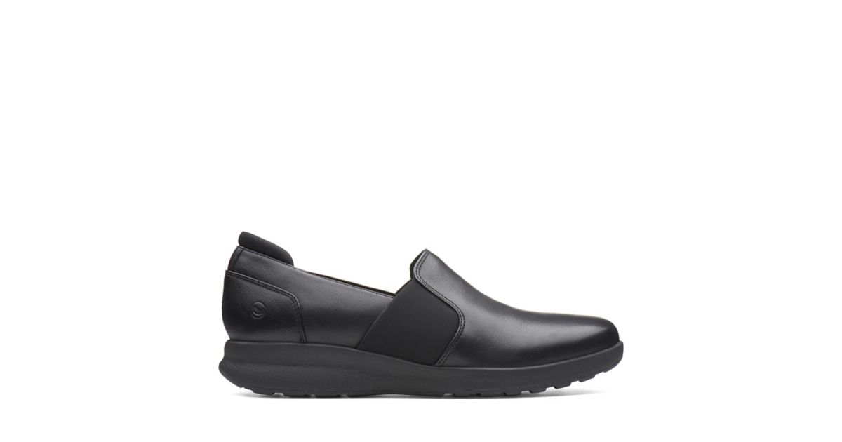 6eee0bfd Un Adorn Step Black Leather - Womens Shoes - Clarks® Shoes Official Site |  Clarks