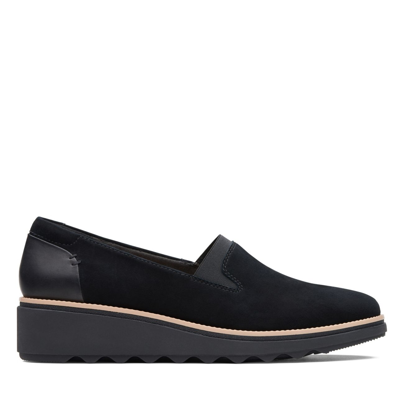 0xop8nkw Sharon Shoes Suede Women's Official Dolly Clarks® Black H9bD2EYeIW