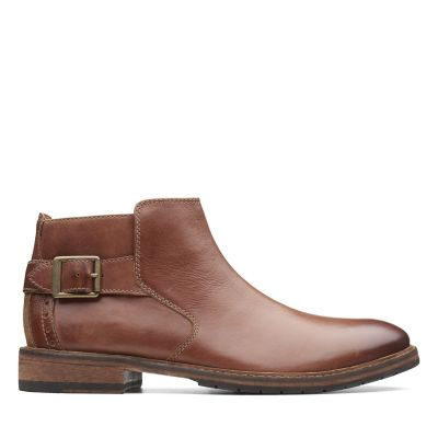 aa609933e0a Clarkdale Remi. Mens Boots. Dark Tan Leather