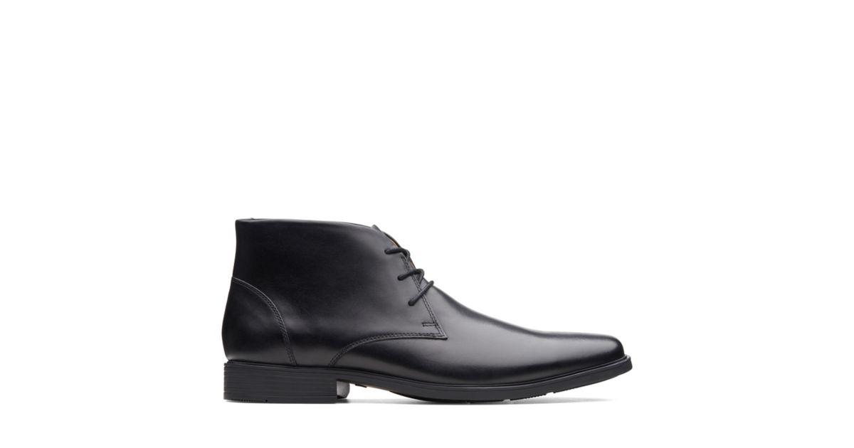 c0914ad2f12e2 Tilden Top Black Leather - Clarks® Shoes Official Site