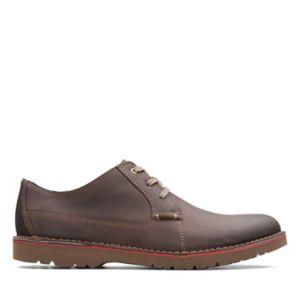 Vargo Plain Dark Brown Leather
