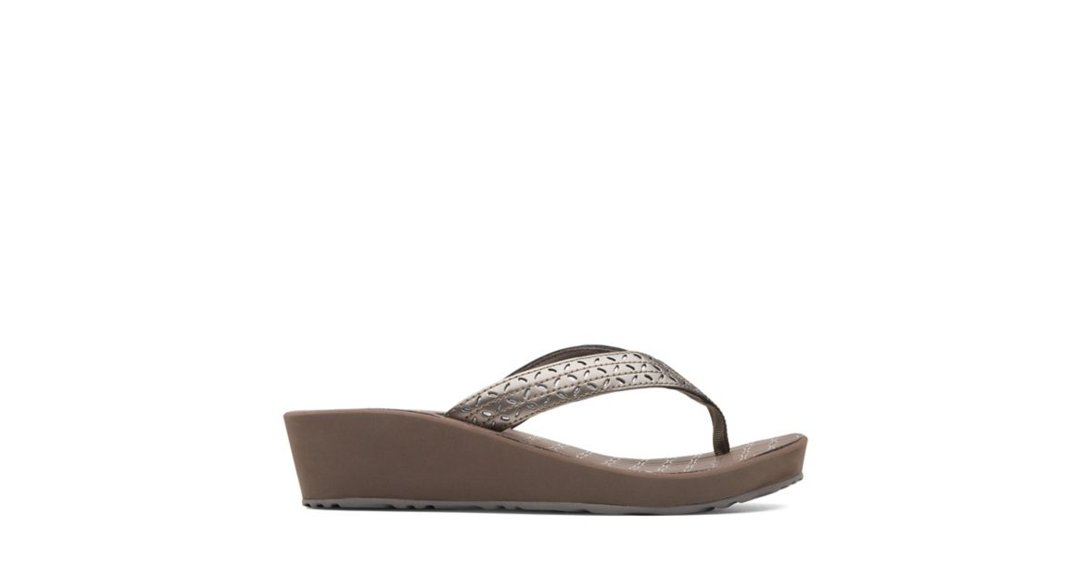 f94b4c86ba9 Liya Gaze Pewter Synthetic - Women s Flip Flop Sandals - Clarks® Shoes  Official Site