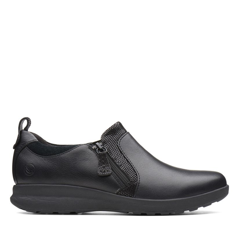 cuenco Visualizar Arqueología  Un Adorn Zip Black Combination-Womens Casual - Clarks® Shoes Official Site  | Clarks