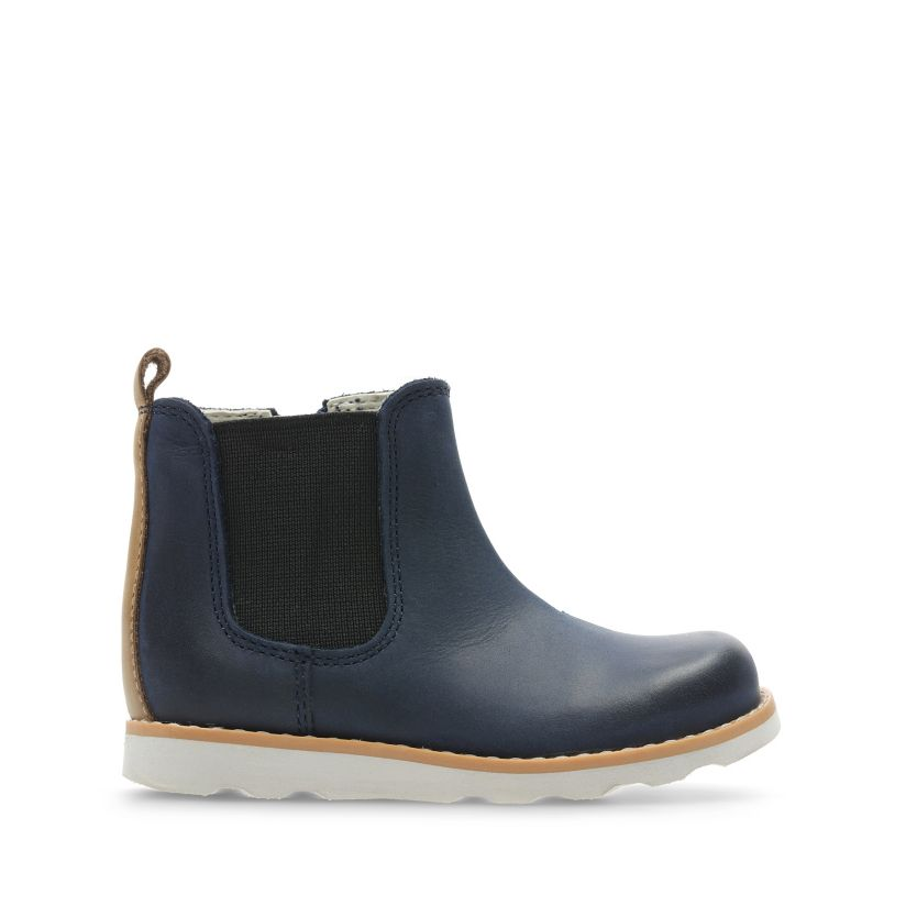 60f95eaae Crown Halo Navy Leather | Clarks