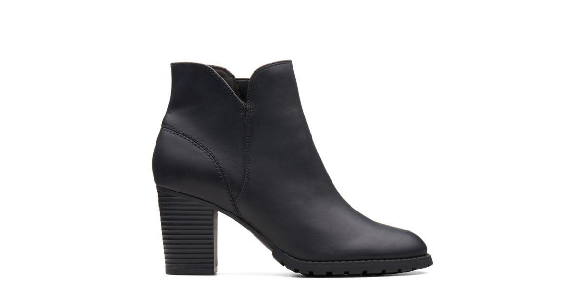 84430bb648d81 Verona Trish Black Leather - Womens Boots - Clarks® Shoes Official Site |  Clarks