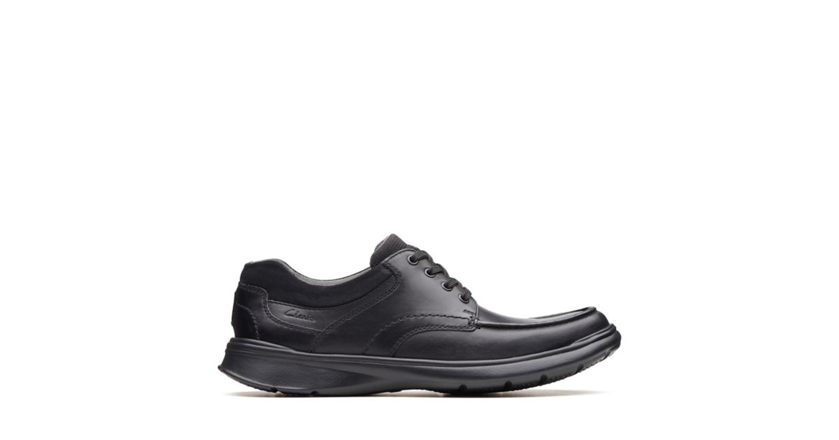 cfd73a476d5 Cotrell Edge Black Smooth Leather - Mens Wide Fit Shoes - Clarks® Shoes  Official Site