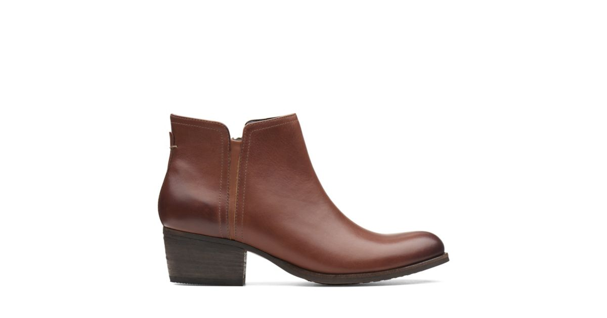 927afaed4e34 Maypearl Ramie Dark Tan Leather - Women s Boots - Clarks® Shoes Official  Site