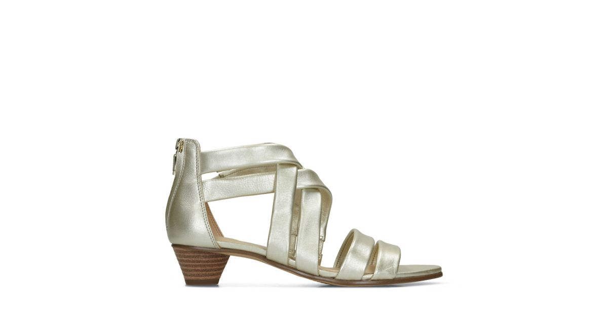 dd6f5f4a6e2 Mena Silk Champagne - Womens Sandals - Clarks® Shoes Official Site ...
