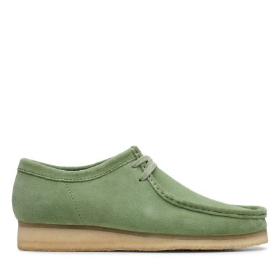 89ad16ab099323 Wallabee. Clarks Originals Herrenschuhe. Kaktusgrün