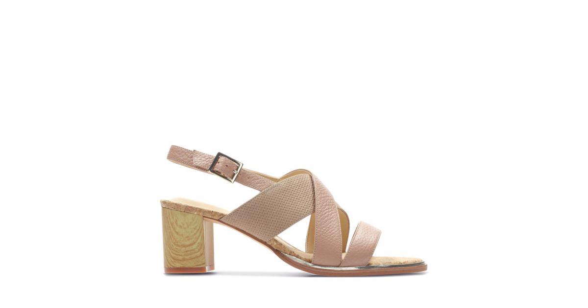 2ddada09739 Ellis Tilda Nude Leather - Womens Sandals - Clarks® Shoes Official Site