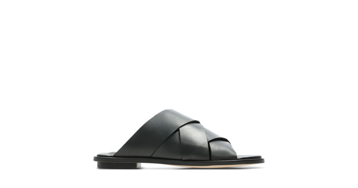 2af897911f6 Willow Art Black Leather - Womens Sandals - Clarks® Shoes Official Site