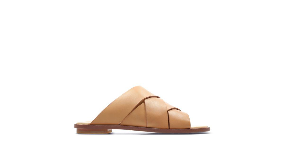 Willow Art Light Tan Leather Womens Sandals Clarks