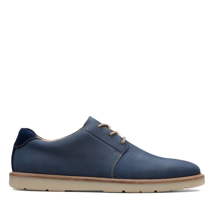 99fd1076a1ca6 Grandin Plain Navy Leather | Clarks
