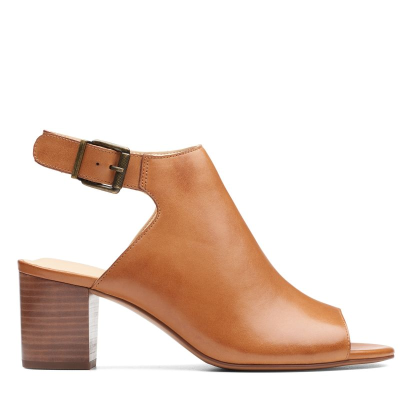 3f8023224e3 Deloria Gia Tan Leather - Womens Heels - Clarks® Shoes Official Site ...