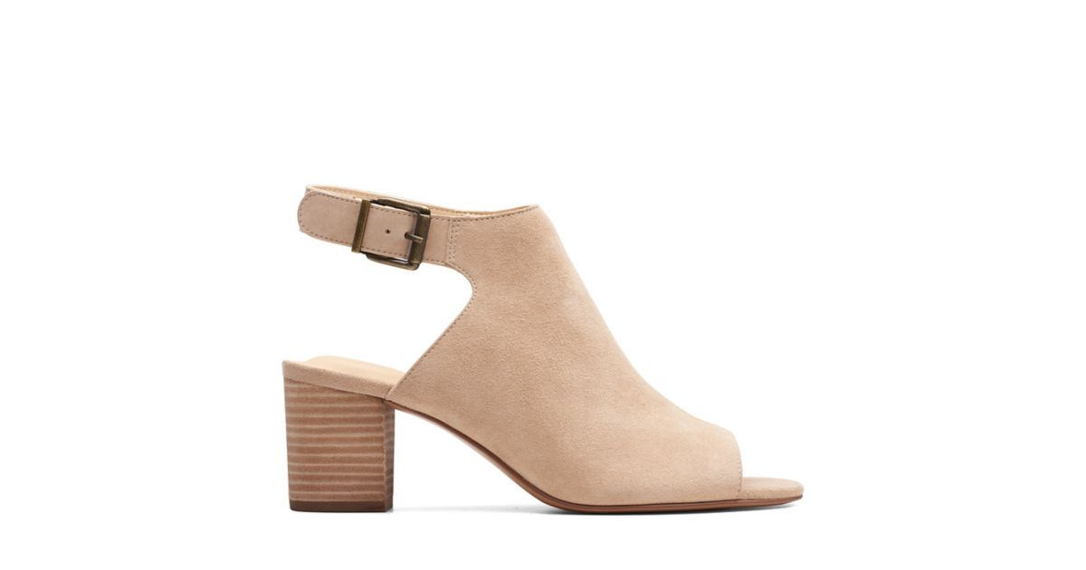 871fed5261af Deloria Gia Sand Suede - Womens Heels - Clarks® Shoes Official Site ...