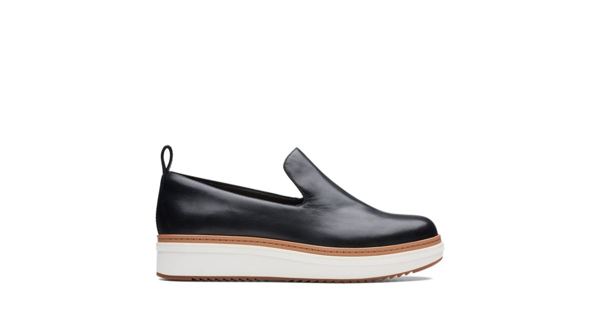 efa4adcdae1 Teadale Genna Black Leather - Womens Casual Shoes - Clarks® Shoes Official  Site