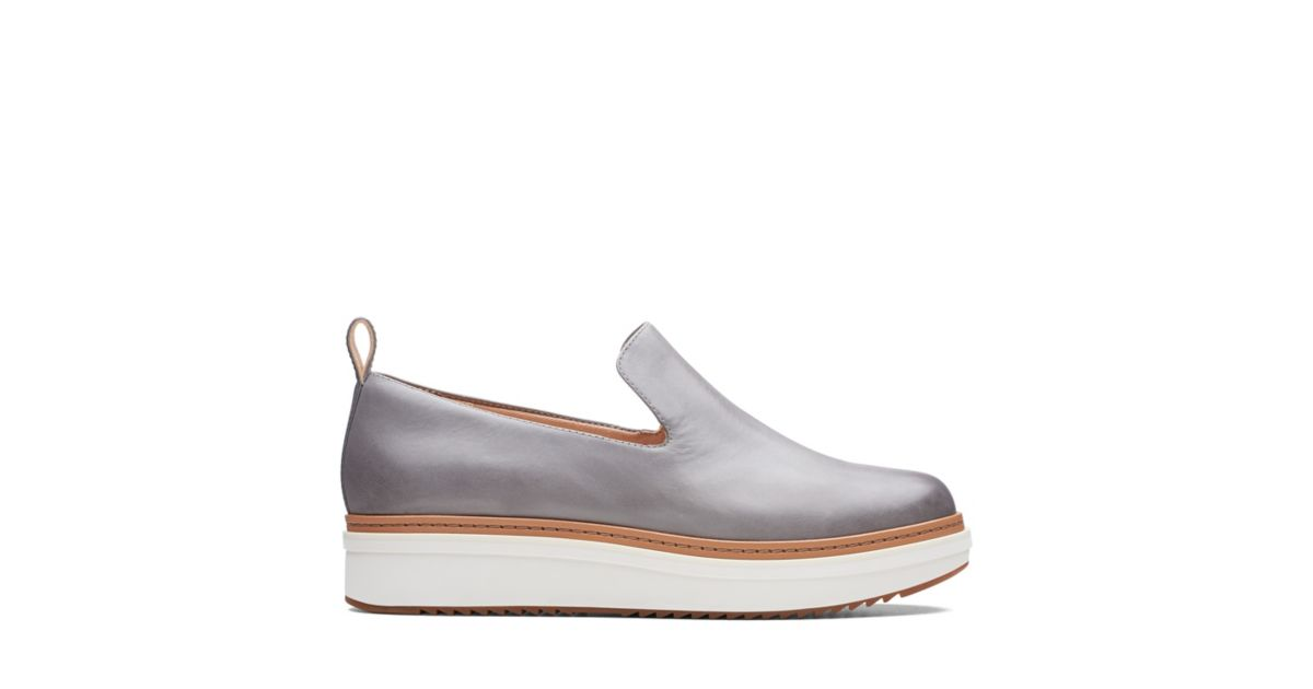 b79b03aefb0 Teadale Genna Grey Leather - Womens Casual Shoes - Clarks® Shoes Official  Site