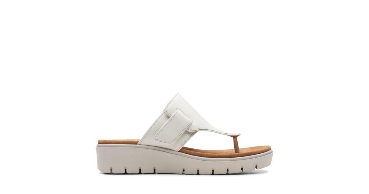 2f1d64b42d6e Un Karely Sea White Leather - Womens Sandals - Clarks® Shoes Official Site