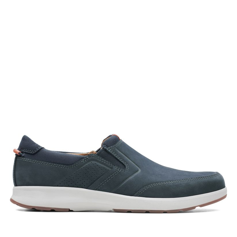 a02125d4bda79 Un Trail Step Navy Nubuck - Mens Casual Shoes - Clarks® Shoes Official Site  | Clarks