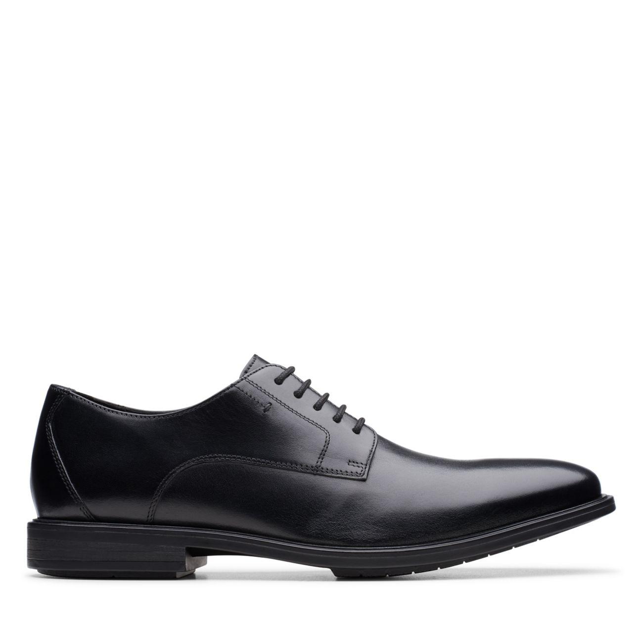 Hampshire Low Black Leather-Mens Dress-Clarks® Shoes Official Site   | Clarks
