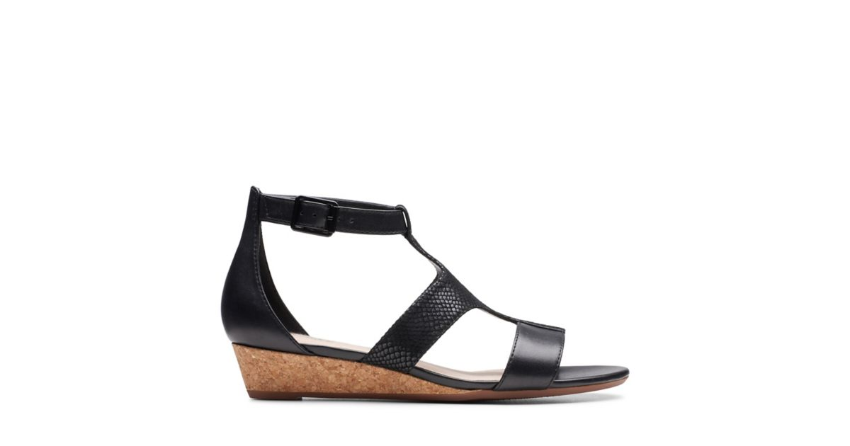 abefbdb087 Abigail Lily Black - Womens Sandals - Clarks® Shoes Official Site   Clarks