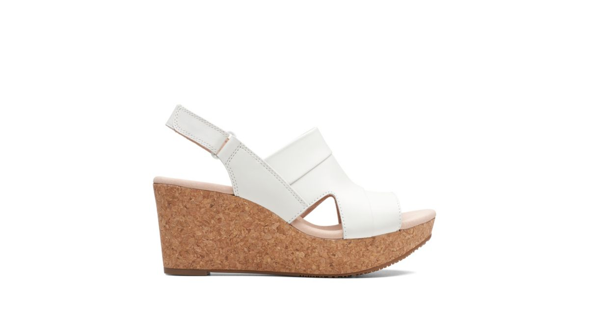 b30e0d3a020e Annadel Ivory White - Womens Wedges - Clarks® Shoes Official Site ...