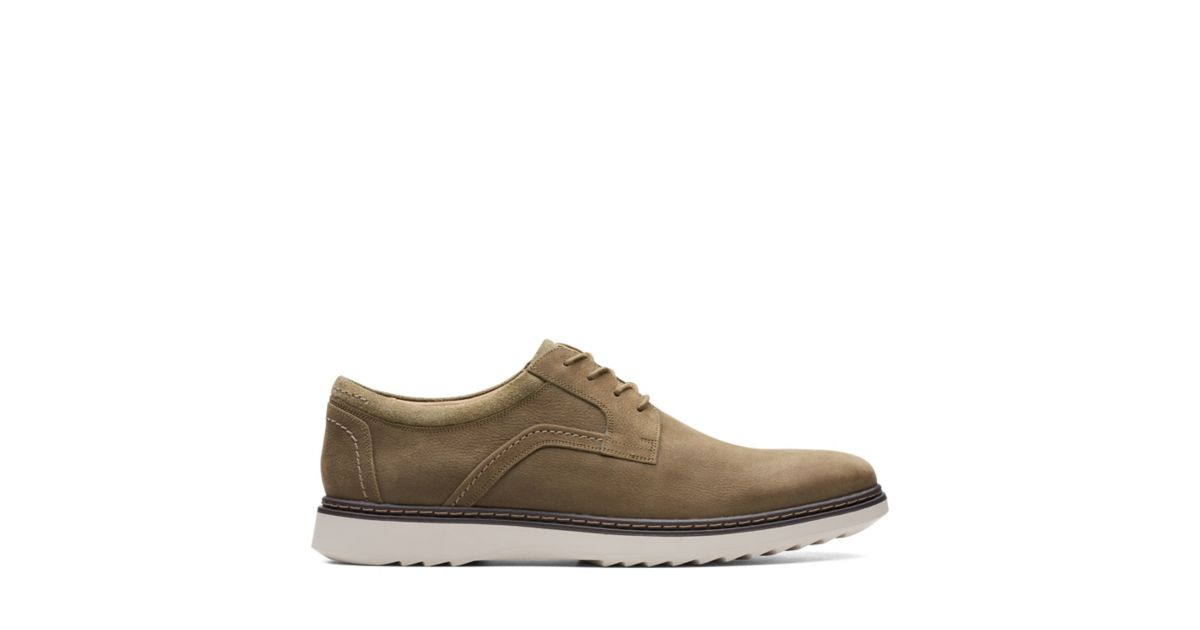 97bb40049184f Un Geo Lace Dark Olive Nubuck - Mens Casual Shoes - Clarks® Shoes Official  Site