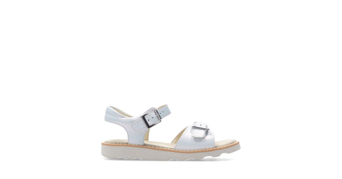8a35681a9f3 Crown Bloom K White Leather - Kids Sandals - Clarks® Shoes Official Site