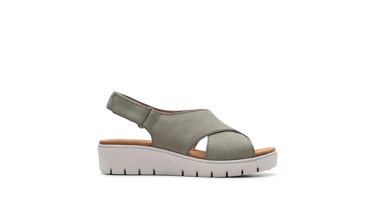 eeb75629f45d Un Karely Sun Sage Nubuck - Womens Sandals - Clarks® Shoes Official Site