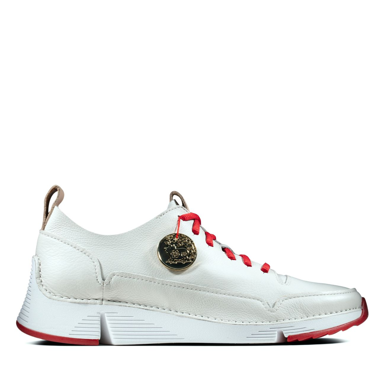 f40b8fabc Tri Spark. White/Red - Womens Sneakers - Clarks® Shoes Official Site ...