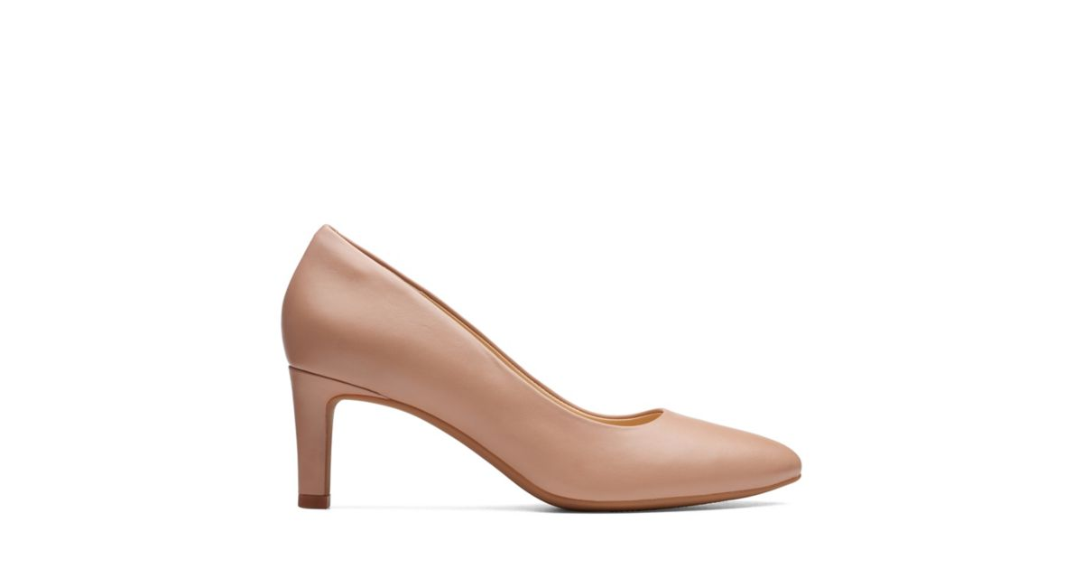 27293a879d1e Calla Rose Nude Leather - Womens Heels - Clarks® Shoes Official Site ...