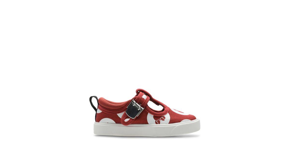 218d264c City Polka Primeros Zapatos Rojo Mix | Clarks