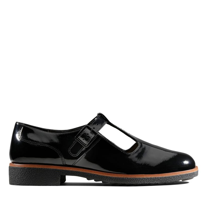 capa maíz Manifiesto  Griffin Town Black Patent | Clarks