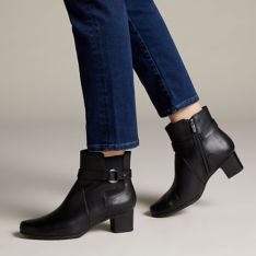 Rápido social Crueldad  Un Damson Mid Black Leather - Clarks® Shoes Official Site | Clarks