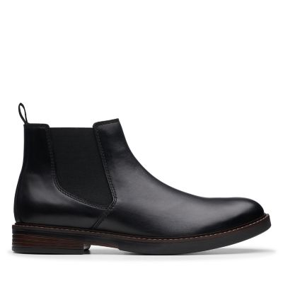Paulson Up Black Leather - Mens Boots