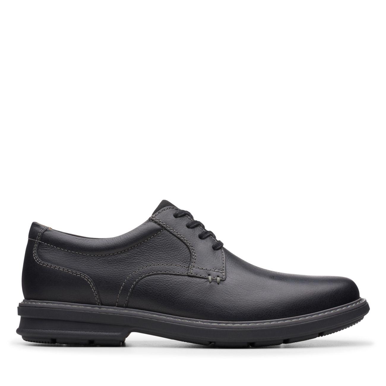 Rendell Plain Black Leather- Clarks® Shoes Official Site   Clarks