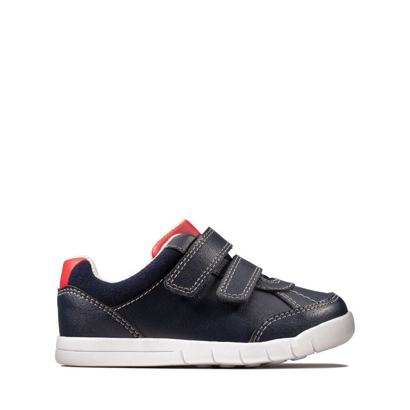 b936b9f44abcc Emery Sky Toddler Navy Leather | Clarks