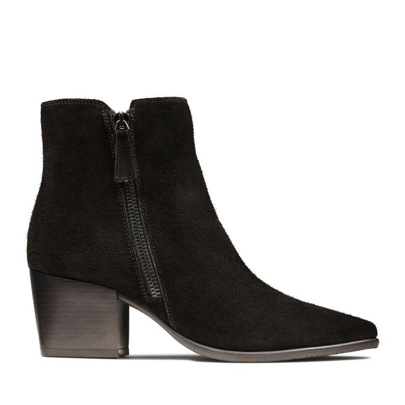 clarks high heel boots