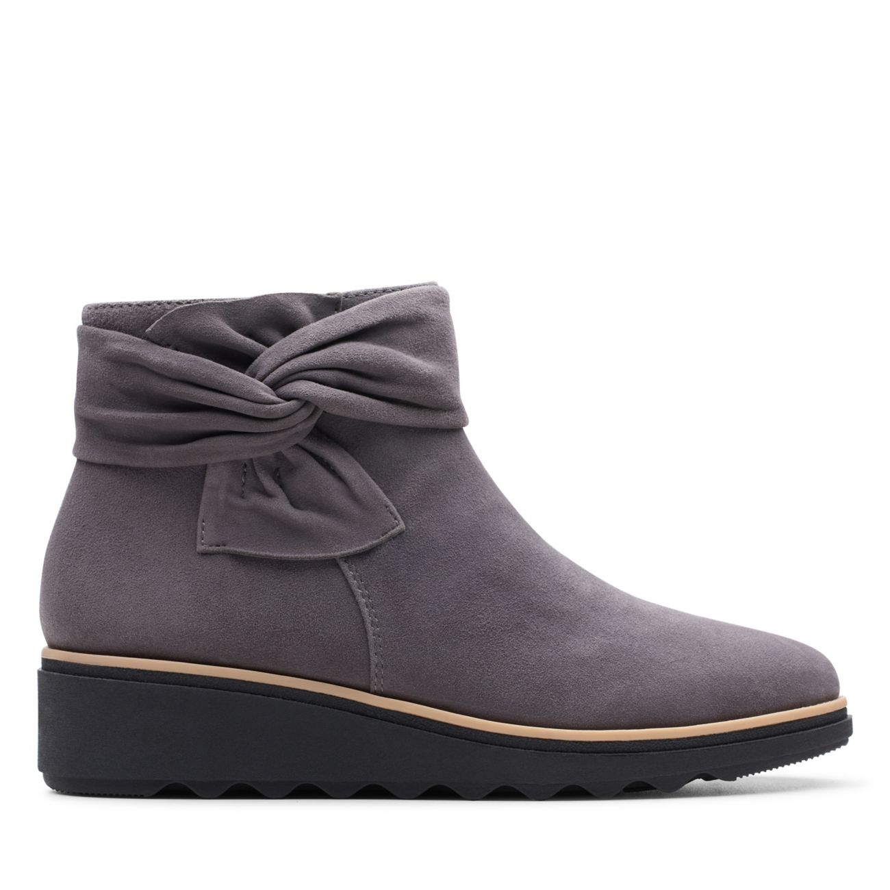 Sharon Salon Grey Suede-Womens Boots-Clarks® Shoes Official Site  | Clarks