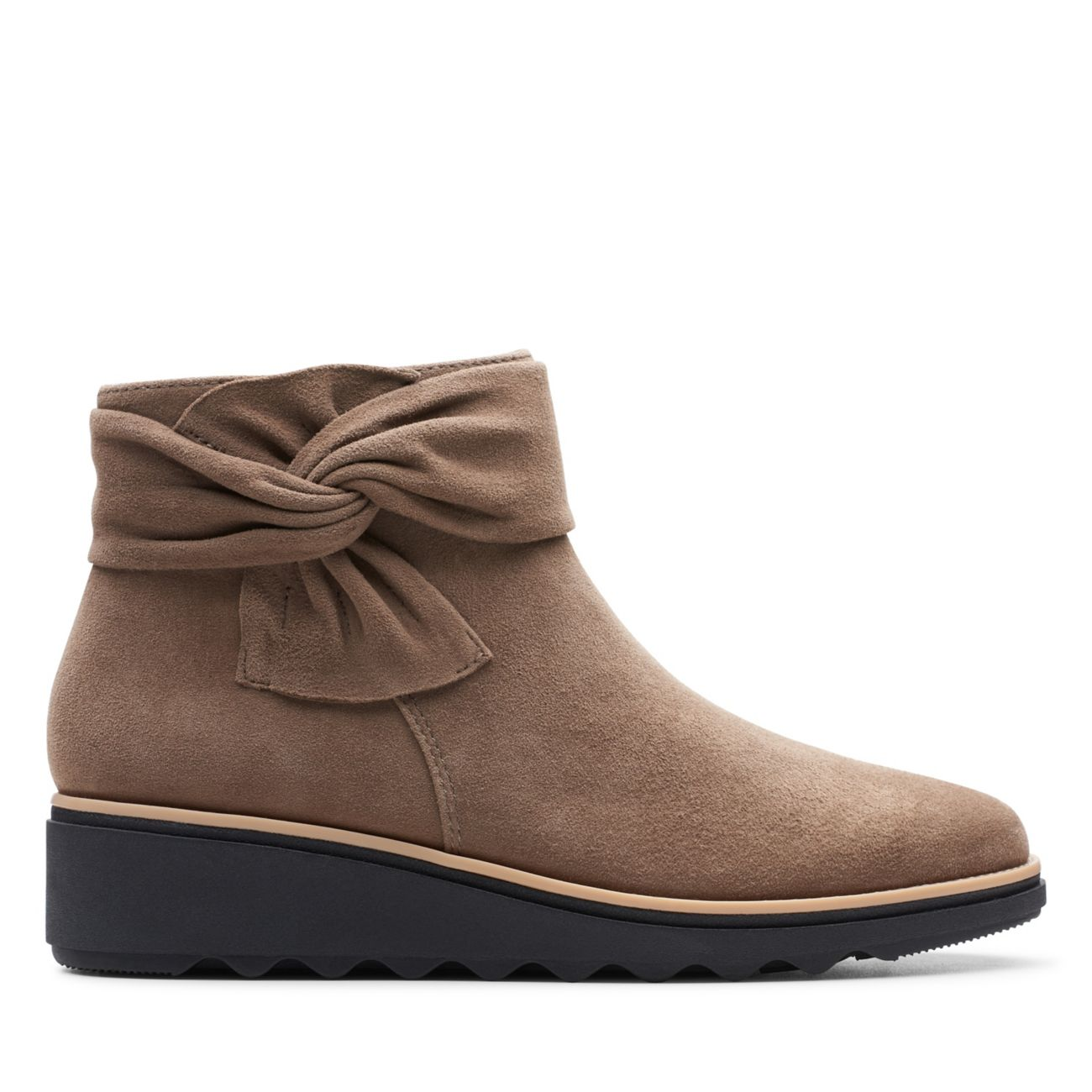 Sharon Salon Olive Suede-Womens Boots- Clarks® Shoes Official Site     Clarks