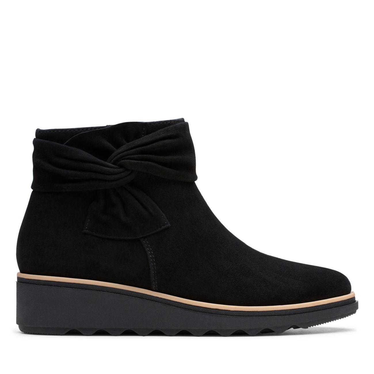 Sharon Salon Black Suede-Womens Boots-Clarks® Shoes Official Site    Clarks