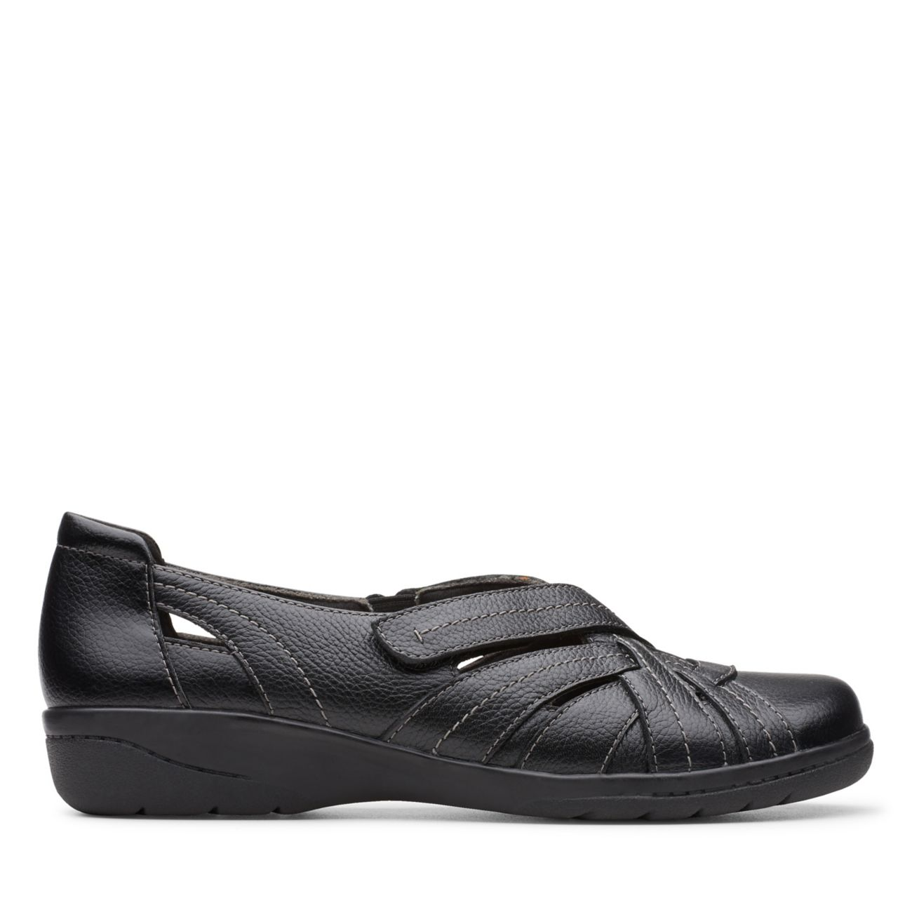 Cheyn Tulip Black Leather - Clarks® Shoes Official Site | Clarks
