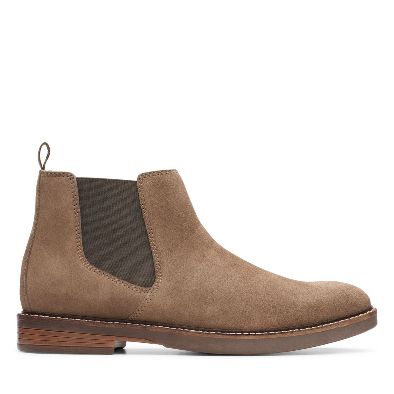Paulson Up Olive Suede-Mens Chelsea Boots-Clarks® Shoes Official Site    Clarks