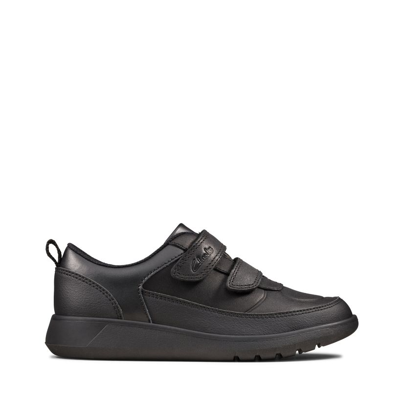 Scape Flare Kid Black Leather Clarks