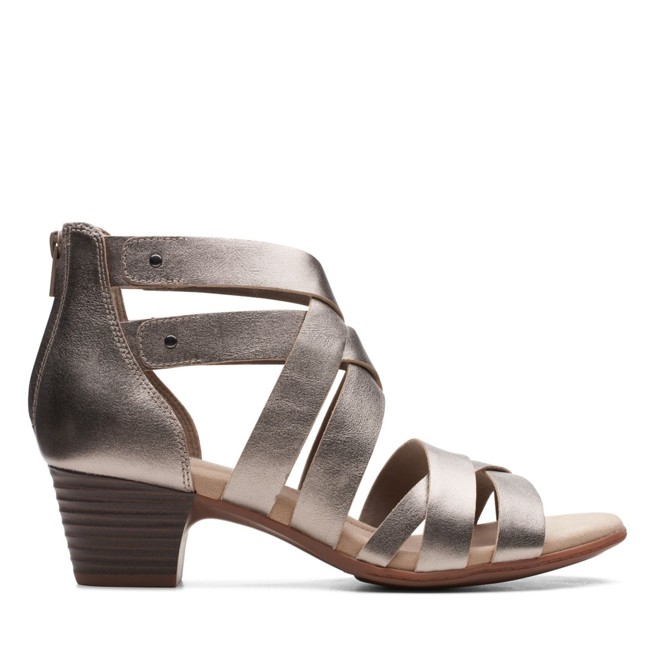 Valarie Dream Pewter Leather   Clarks