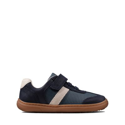 Club Solar Jnr  Clark/'s Boys Grey COMBI Suede Shoes Sneakers BOYS PUMPS FOOT